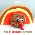 Pom Pom Thanksgiving Turkey Craft