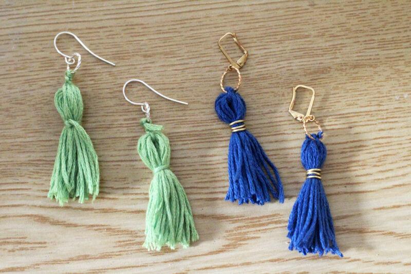 DIY Tassel Earrings - Moms and Crafters