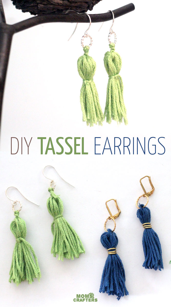 DIY Tassel Earrings - Moms and Crafters