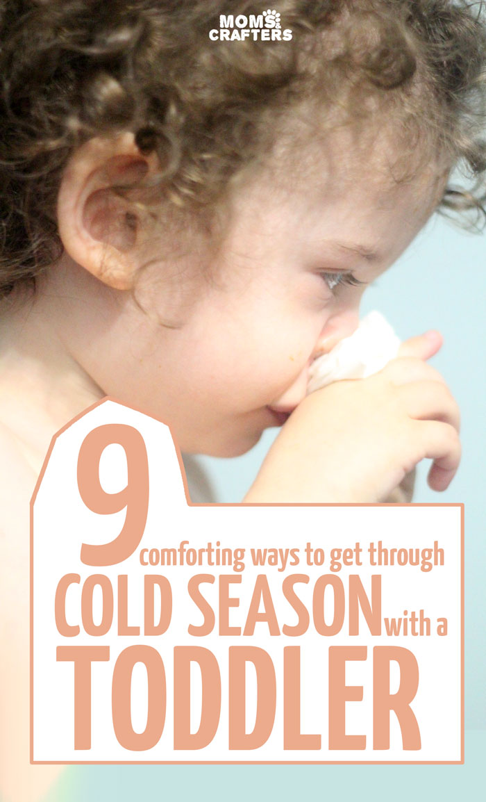 Comforting tips for dealing with a toddler's cold and getting through the season happily (including how to make toddler tea!). Some great parenting tips for toddlers!