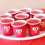 Elmo Food for Parties: Mini Gelatin Cups