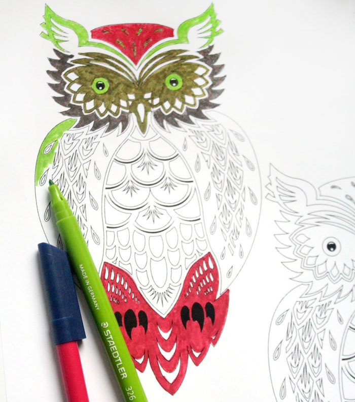There's nothing as relaxing as these complex free printable coloring pages for adults! They are so meditative - and you can download them for free!