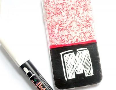 DIY Chalkboard Cell Phone Case