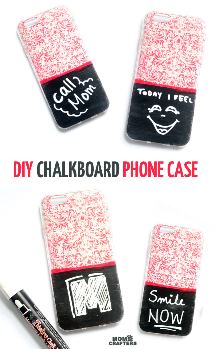 Diy Chalkboard Cell Phone Case Moms And Crafters