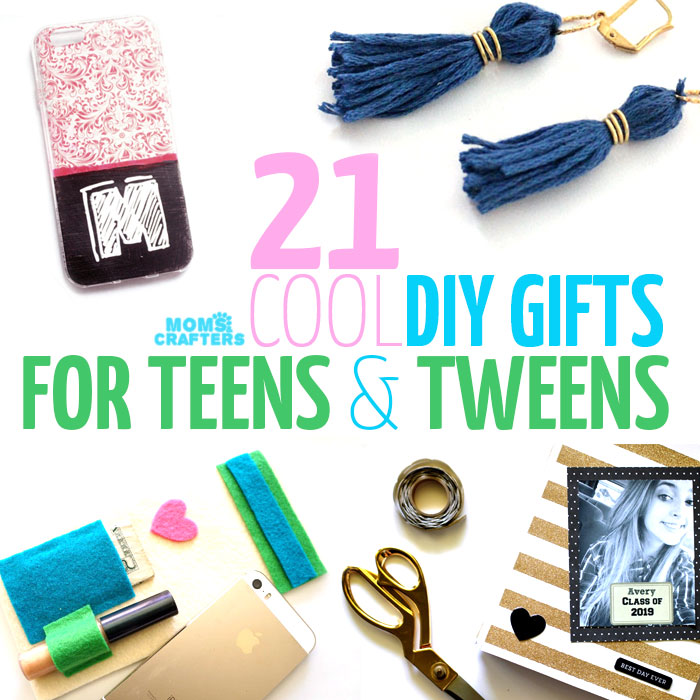 21 DIY Gifts for teens and tweens - all of these are polished and fun to give as gifts. They also make great crafts for teens for all year round.
