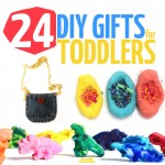 Craft your holiday with these 24 amazing DIY gifts for toddlers. You'll love these gift ideas for one, two, and three year olds that you can make for birthdays, Christmas, Hanukkah, or any occasion