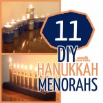 11 DIY Menorahs for Hanukkah