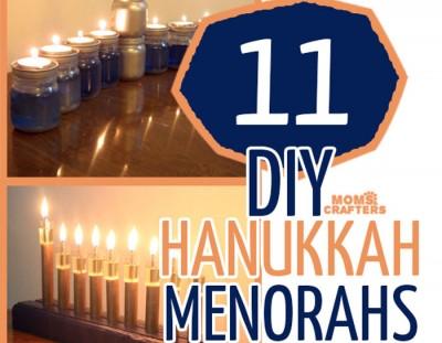 11 DIY Menorahs for Hanukkah