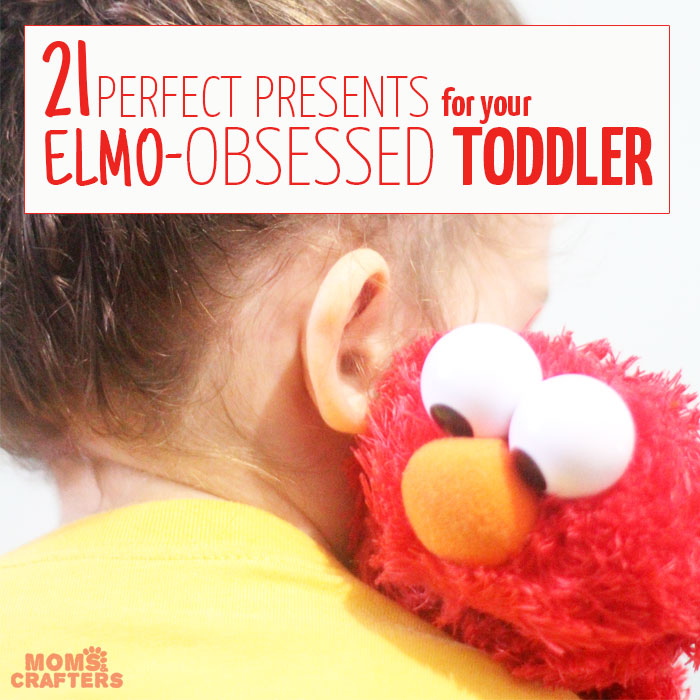 The perfect list of Elmo gifts for toddlers - DIY ideas, and gifts to buy, non-toy gifts and educational toy gifts, just-for-fun, practical, and books + entertainment. Awesome gift ideas for Emo-obsessed toddlers!