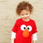 DIY Elmo Tee – No Sew!