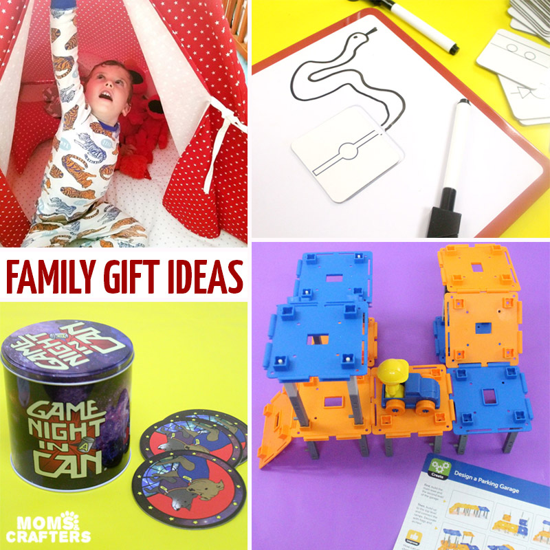 Looking to save some money on gift giving and to streamline your gift list? This list of family gift ideas will help you do just that - including ideas for any age level! #christmas #gifts #hanukkah #budgeting