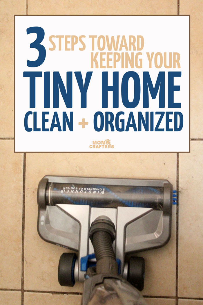these three steps toward better home organization will help you keep your tiny apartment sparkling clean! Some practical homemaking and organizing tips for you to try.