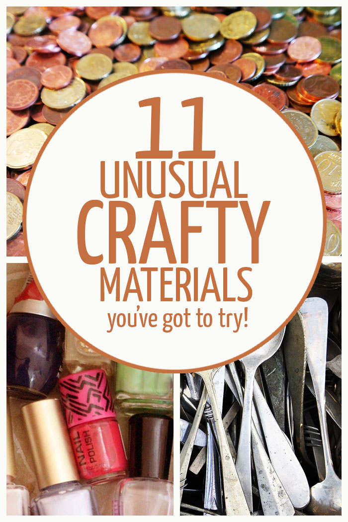 Check out these 11 unusual materials to craft with! You'll automatically upgrade your DIY ideas and crafts when you use things that are vintage, not meant for crafting, and out-of-the-box!