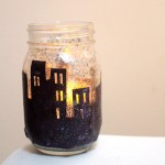 Snowy Skyline Winter Lantern Craft