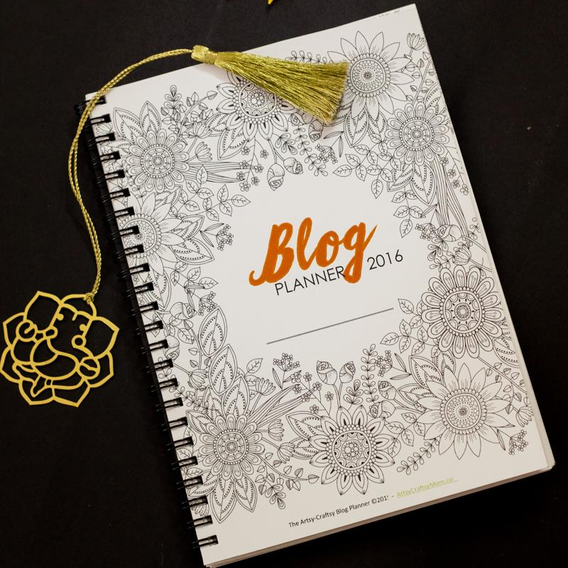 wow! This blog planner is magnificent - with 200+ pages including hours of adult coloring pages and fun!