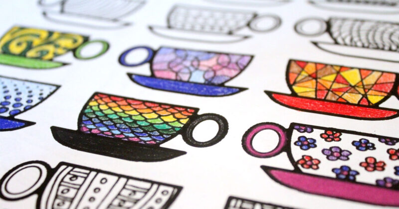 Free Printable Coloring Pages For Adults Coffee Cups