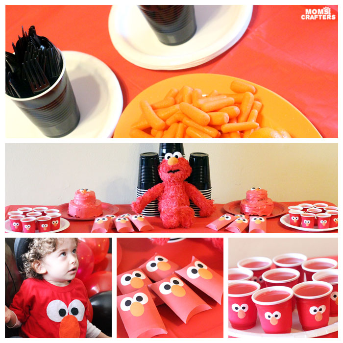 I LOVE these Elmo birthday party ideas - the tablescape is so cool! An Elmo theme is perfect for a first birthday party, or even second or third toddler birthdays. Check out this list of easy ideas.