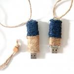 DIY Gift Idea for Men: Color Blocked Twine Flash Drive