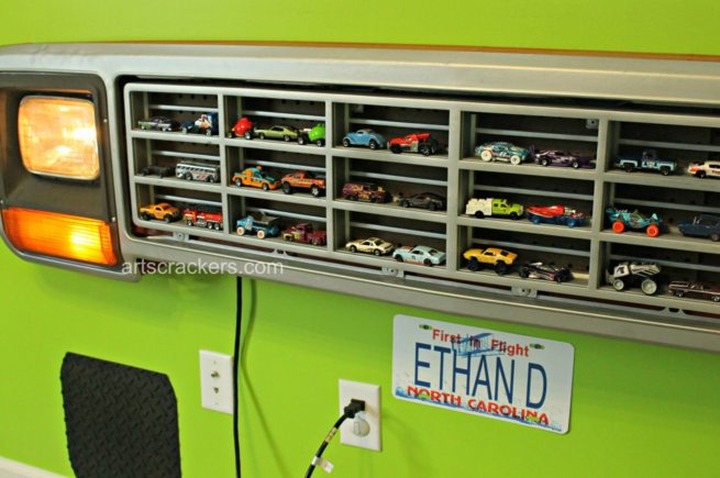 Big Toy Car Holder : Hot wheels display ideas to diy moms and crafters