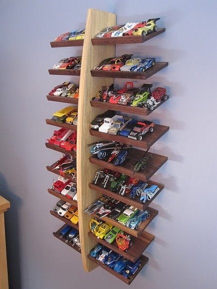Toy Car Rack : Hot wheels display ideas to diy moms and crafters