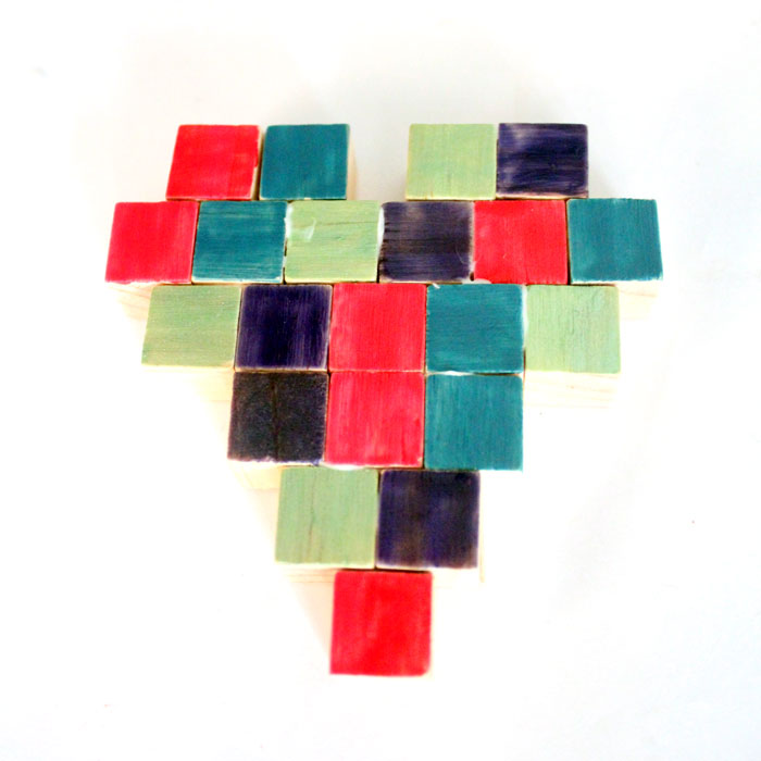 Make this stunning and easy mosaic heart magnet craft for kids, teens or adults! It's such a simple and easy-to-gift valentine's day craft, that's perfect for year-round too!