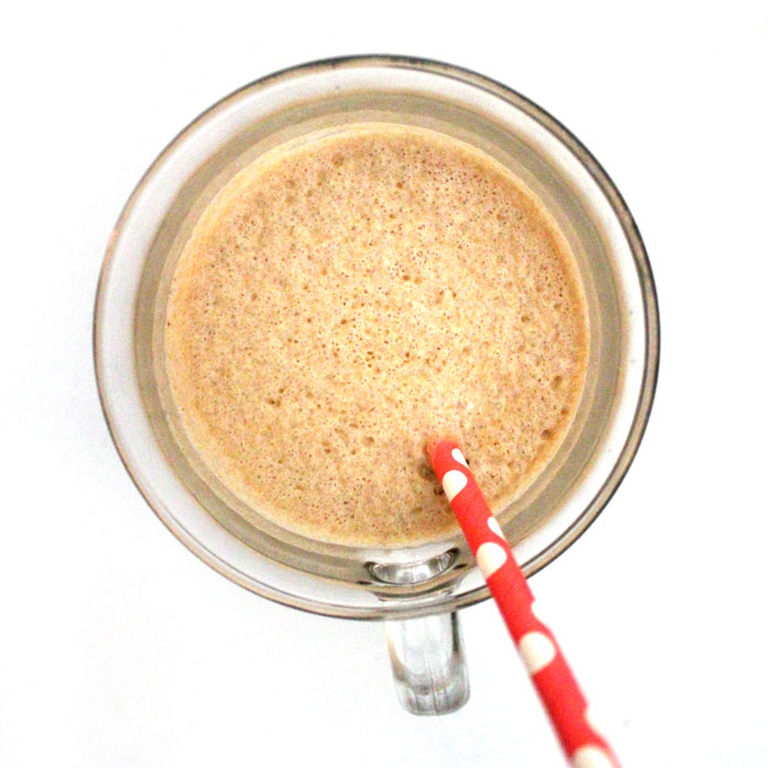 Make this WICKED protein shake recipe - you'll never guess it's your protein fix for the day! It has a double does of chocolate, plus peanut butter flavor, and is rich and filling.