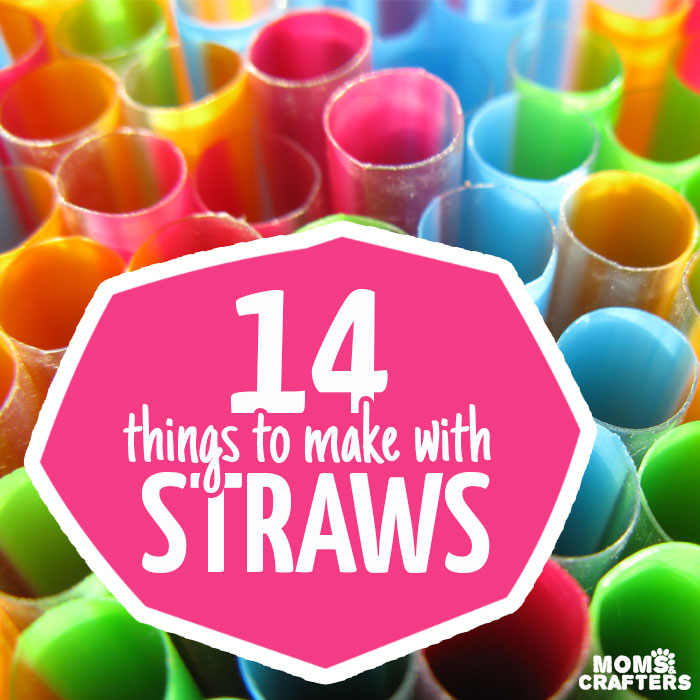 14 of the BEST and most unique things to make with straws - these straw crafts use both paper straws and plastic, and include kids crafts, adult DIY, and unique ideas for teens too.