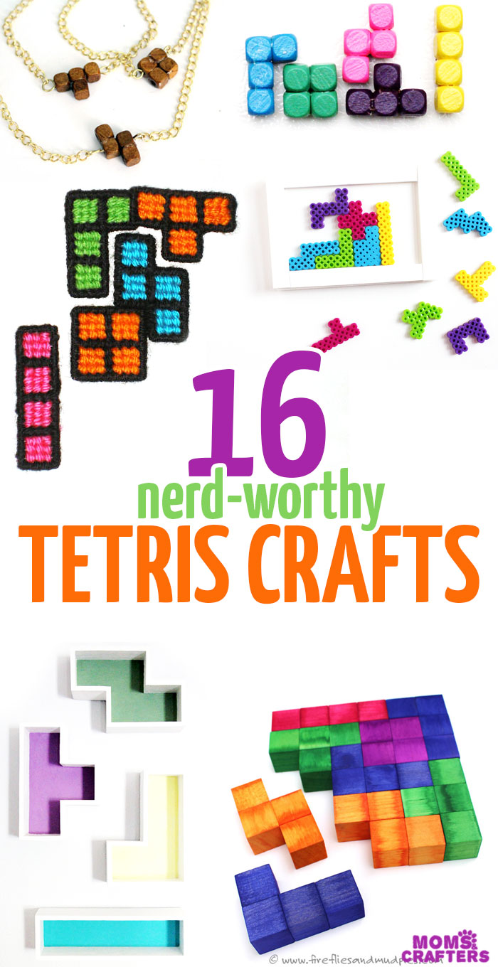 You don't need to be a nerd to love these amazing TETRIS CRAFTS and DIY ideas! They are great for geeks, for giving as gifts, or just for fun.