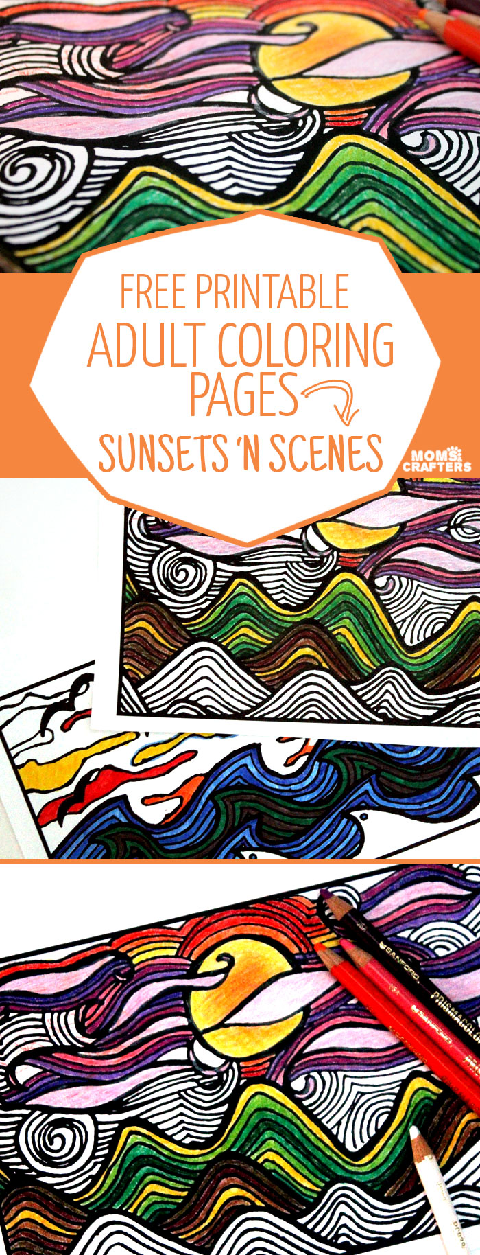 free printable coloring pages sunsets u0027n scenes