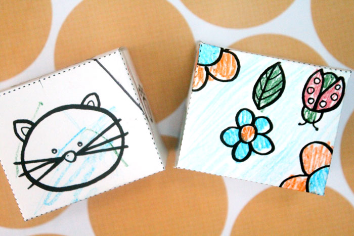 So cute - your kid can color in these free printable color-in gift boxes. It's easy to cut out and put together, and a little more interesting than a coloring sheet for kids.