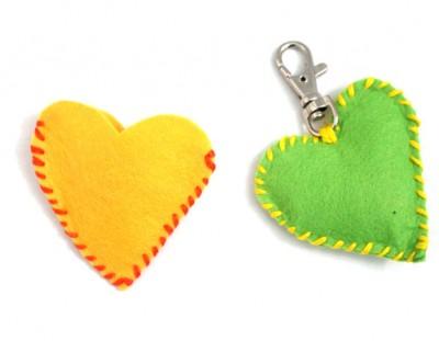 Stitched Felt Heart Craft