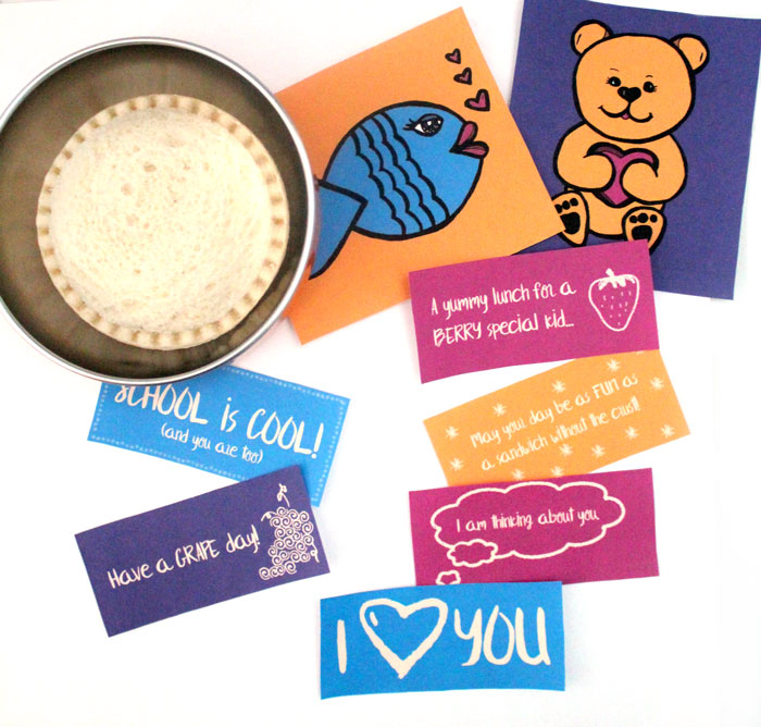 Grab these free printable lunch box notes to add that personal touch to your child's lunch! They include fun, positive messages, plus two picture cards for toddlers and non-readers!
