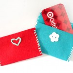 Easy Felt Gift Card Pouches