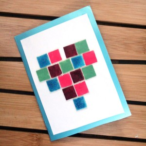Make a beautiful DIY heart mosaic card craft for Valentine's day, or to show your love any time of year! I made this for my husband for our anniversary. It's easy for teens or kids to make too.