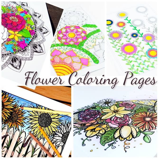 Postcards Coloring Book for Creative Adults (Printable Version)
