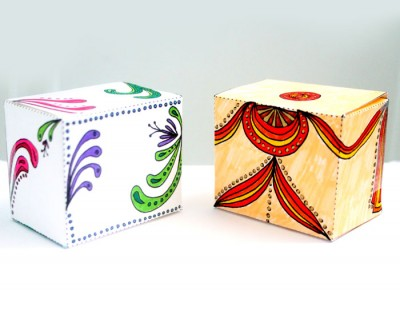 Free Printable Color in Gift Boxes for Adults