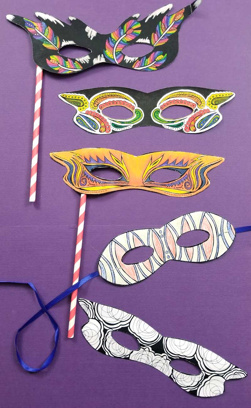 Click for an epic bundle of coloring pages masks for mardi gras purim or halloween! You'll love this fun masks paper craft for kids and adults.