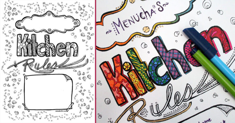 coloring page kitchen rules fb