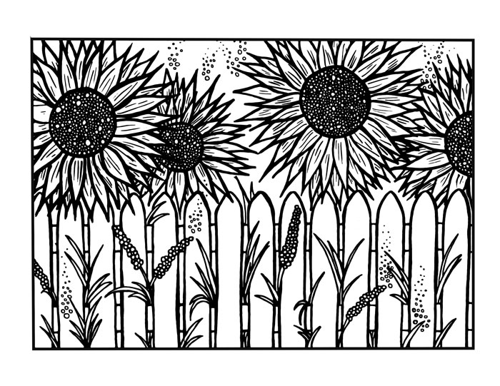 download five free flower themed adult coloring pages for spring this sunflower themed complex coloring