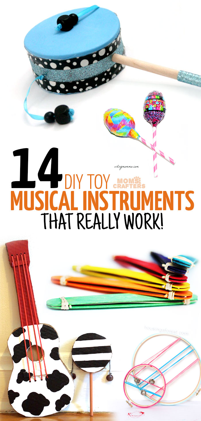 Diy musical instruments moms and crafters for Easy diy arts and crafts