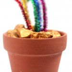 It's a rainbow craft with a twist! Make this pot of gold nuggets for St. Patrick's Day or any day! You can use the gold nuggets alone, add a rainbow if you want, or leave it as is. It's an easy craft for kids, teens, or even adults.