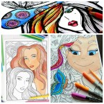 12 Free Faces Adult Coloring Pages