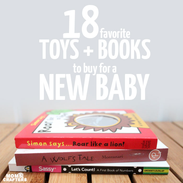 Whether you're looking for play-based gift ideas to bring to a baby shower, or the best baby toys to add to your baby registry, this list will sort it all out for you! This full guide shows you which toys are best, which are basic, which are fun, as well as fun baby book gifts too.