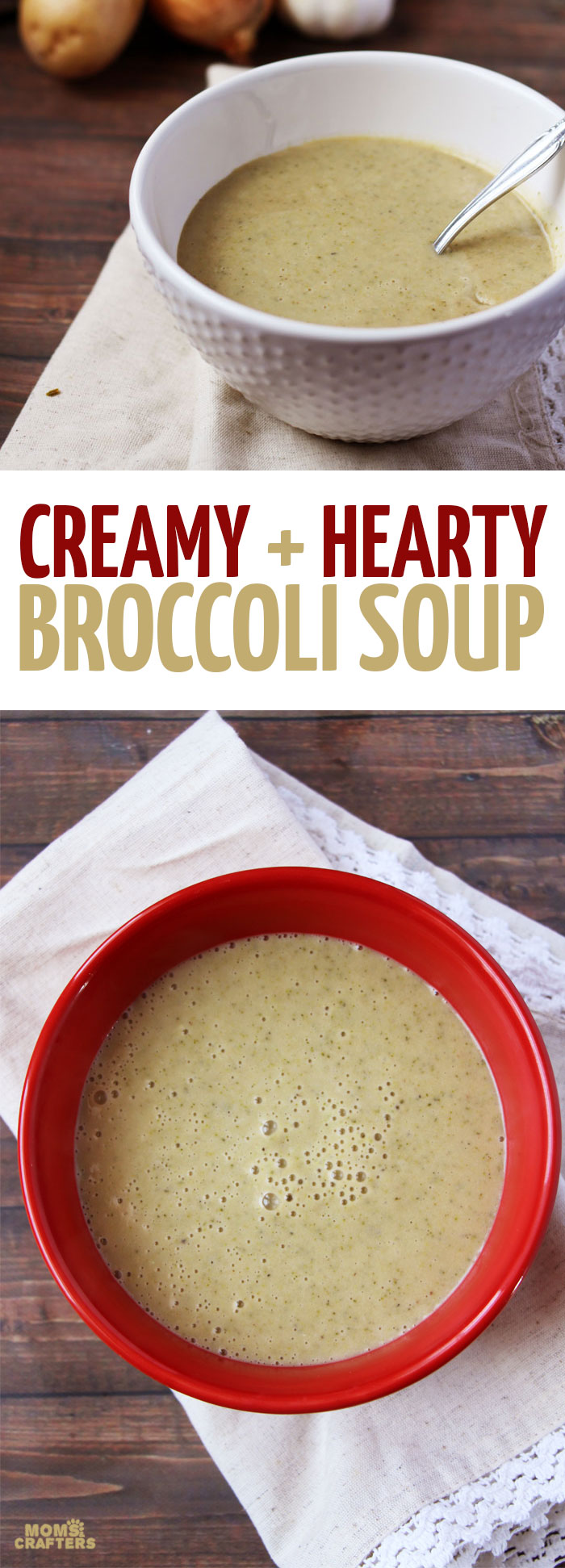 Make this delicious, easy and hearty creamy broccoli soup recipe. It's ...