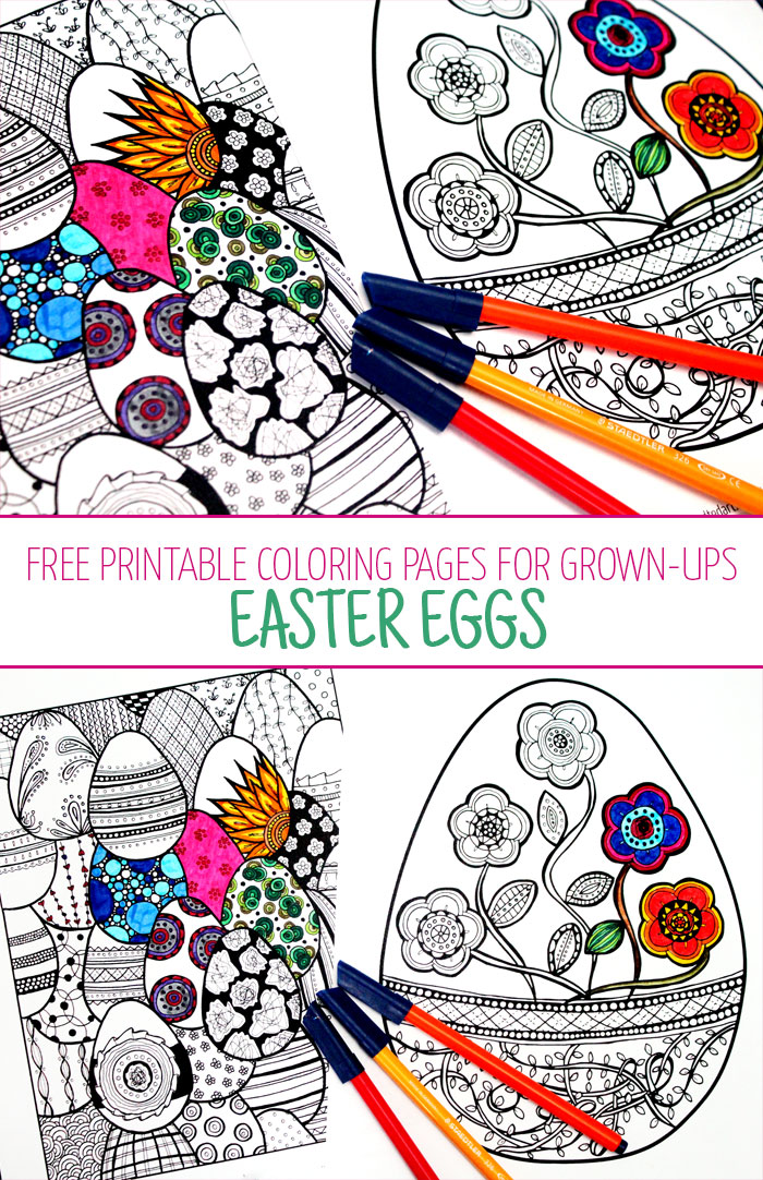 Free Printable Adult Coloring Pages - Eggs! - Moms and Crafters