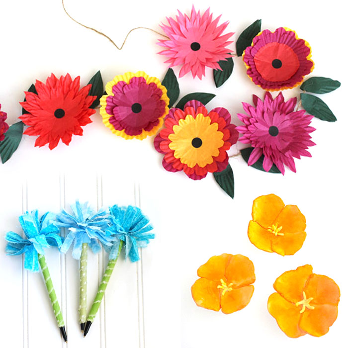 Spring is in the air! Make these beautiful flower crafts for teens and tweens - they're beautiful, easy, and fun!