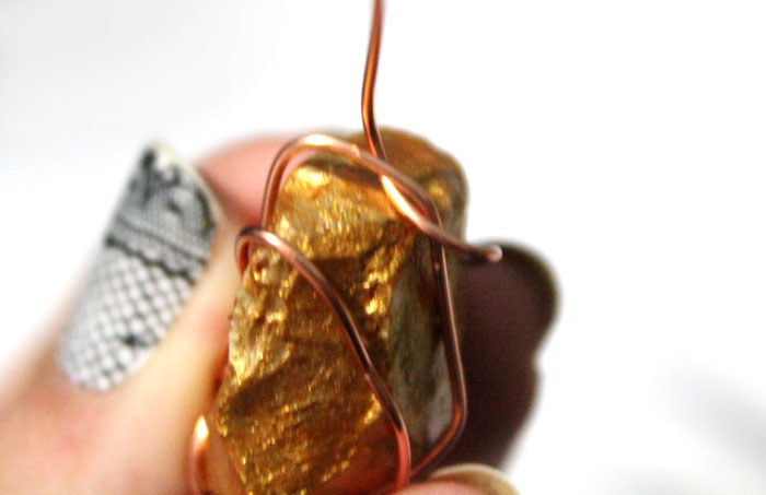 This DIY gold nugget jewelry is so easy to make and one of the cheapest jewelry making tutorials I've seen! Such an easy rock craft and teaches basic wire wrapping to make the pendants. The earrings take literally five minutes.