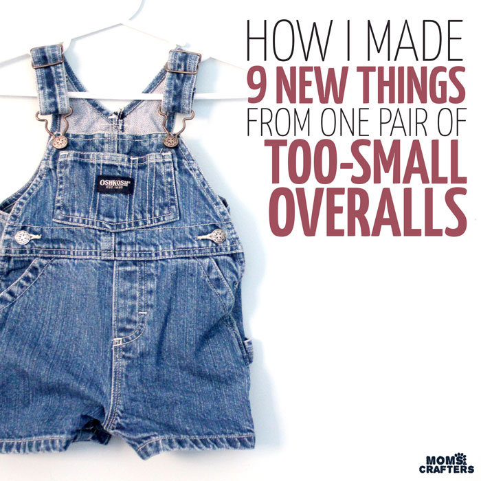 How I Made 9 Crafts From One Pair Of Old Overalls