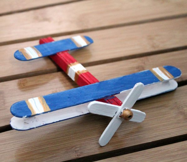 Airplane Craft: make a wooden toy airplane