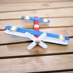 Make this super fun airplane craft - it works as a DIY wooden toy airplane too! I made it for my toddler but big kids can make it too :) It's an adorable flight and travel themed craft for kids